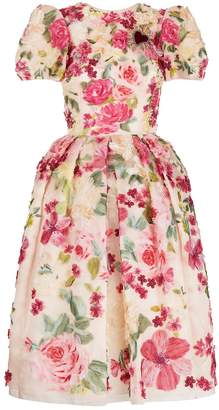 Dolce & Gabbana Floral Applique Dress