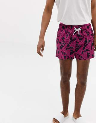 Calvin Klein abstract print swim shorts