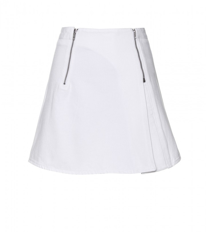 Acne CASTLE DENIM A-LINE MINI-SKIRT