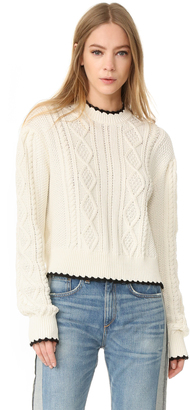 McQ - Alexander McQueen Scallop Cable Sweater $480 thestylecure.com