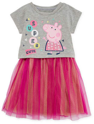 Peppa Pig Sleeveless Dolman Sleeve Animal A-Line Dress - Toddler Girls