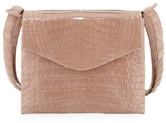 Nancy Gonzalez Astor V-Flap Crocodile Crossbody Bag