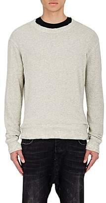 R 13 Men's Distressed Sweatshirt - Gray