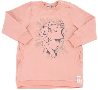 Wheat Aristocats Print Cotton Sweatshirt