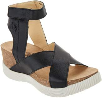 Fly London Leather Cross Strap Wedges - Weel