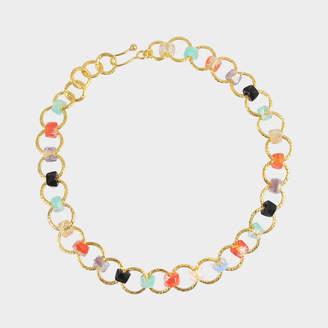 Aris Geldis One line multicolour choker (with coral)