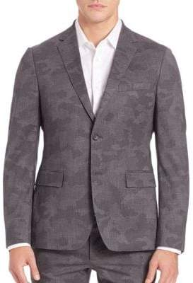 Michael Kors Trop Wool Camouflage Blazer