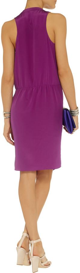 Tibi Wrap-effect silk-crepe dress