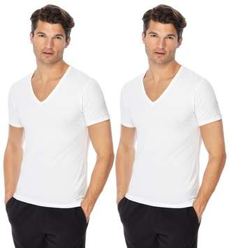 Calvin Klein Set Of 2 White V-Neck T-Shirts