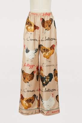 Dolce & Gabbana Hans printed silk pants