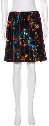 Jean Paul Gaultier Velvet Patterned Skirt