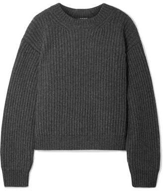 Acne Studios Oversized Ribbed Wool Sweater - Dark gray