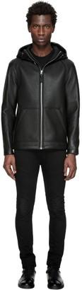 Camilo Pebble Leather Jumper In Black $950 thestylecure.com