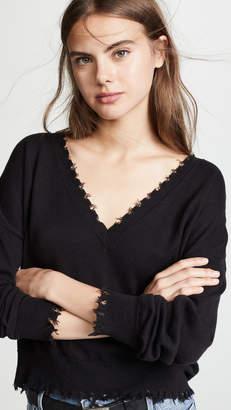 Nation Ltd. Jolie Boxy Ultra Deep V Sweater