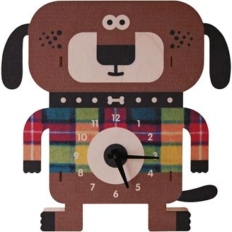 Modern Moose Wagner Dog 3D Wall Clock