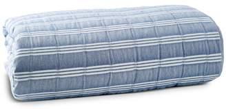 Puckered Stripe Duvet Cover Set, Full/Queen