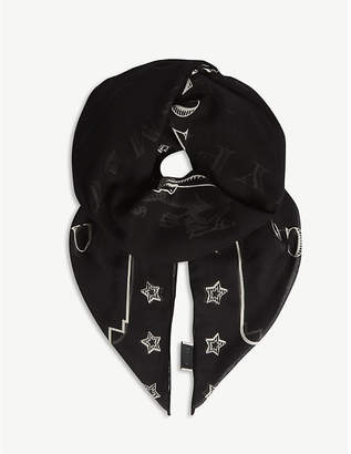 Gucci Dragon cotton scarf