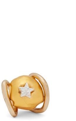 Sonia Boyajian - Abiquiu Polished Bronze & Crystal Ring - Womens - Gold