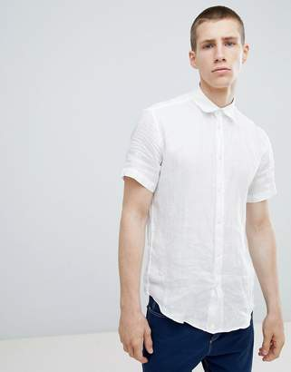 Benetton Short Sleeve Linen Shirt