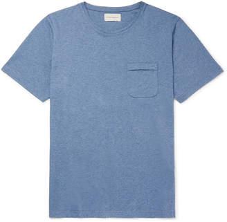 Oliver Spencer Mélange Cotton-Jersey T-Shirt