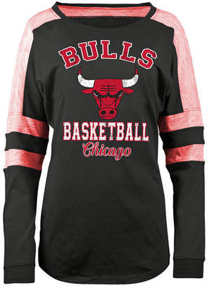 5th & Ocean Women's Chicago Bulls Space Dye Long Sleeve T-Shirt