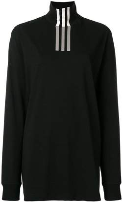 Y-3 tri-stripe print turtleneck sweatshirt