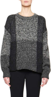 The Row Didiana Patchwork Melange Sweater