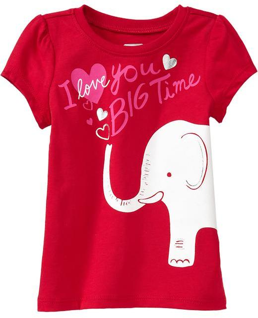 "Old Navy ""Mommy & Daddy"" Heart Tees for Baby"