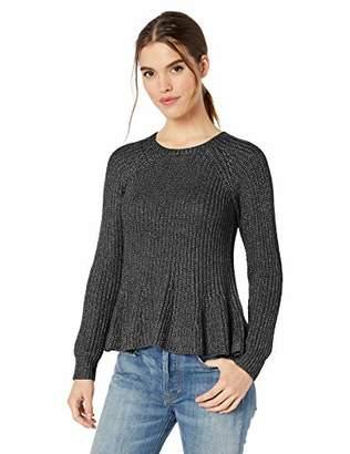 Ella Moss Women's Mia Swing Hem Crop Body Sweater
