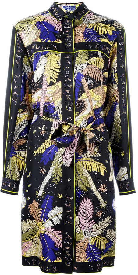 Emilio PucciEmilio Pucci palm trees print shirt dress