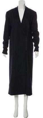 Tibi Wool Pinstripe Coat