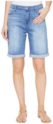 Liverpool Hayden Rolled-Cuff Bermuda 11/9 Rolled in Devonshire Bleach/Indigo Women's Shorts