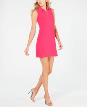MSK Petite Collared A-Line Dress
