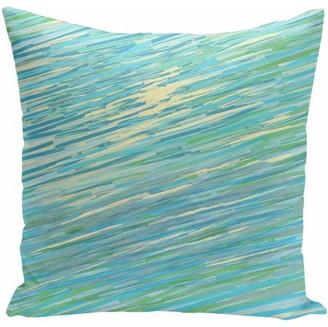 "Generic Simply Daisy Coastal Print Decorative Pillow, 16"" x 16"""