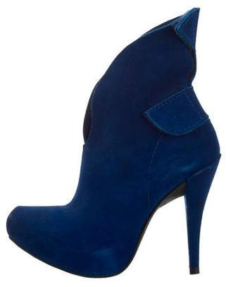 Pedro Garcia Suede Pointed-Toe Ankle Boots