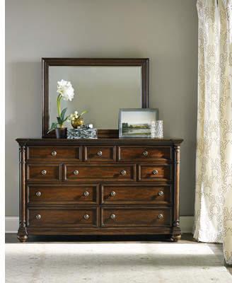 Hooker Furniture Leesburg 10 Drawer Dresser with Mirror