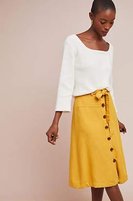 Maeve Buttondown Chino Skirt