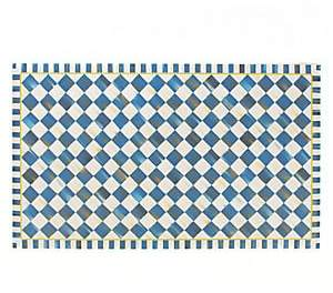 Mackenzie Childs MacKenzie-Childs MacKenzie-Childs Royal Check Floor Mat