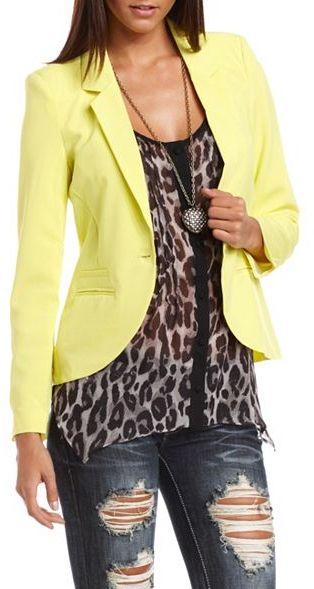 Charlotte Russe Lightweight Long Sleeve Blazer