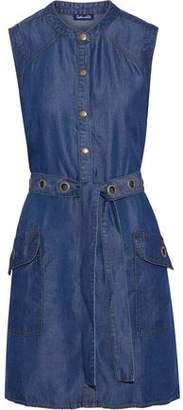 Splendid Wilder Belted Tencel-Chambray Mini Dress