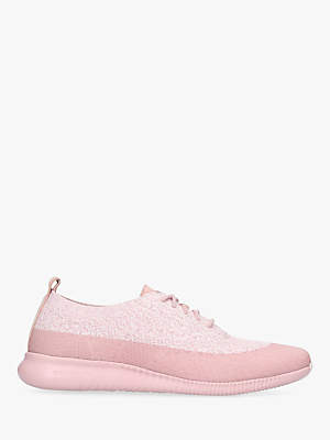 Cole Haan Zero Stitch Lite Lace Up Trainers, Light Pink