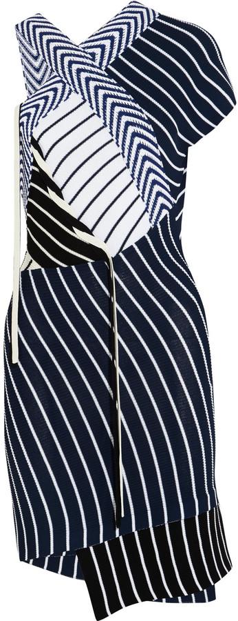 Emilio PucciEmilio Pucci Striped ribbed-knit mini dress