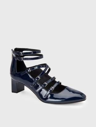 Calvin Klein madlenka patent leather strap heel