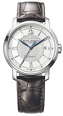 Baume & Mercier Baume& Mercier Baume& Mercier Men's Classima 8791 Stainless Steel& Alligator Strap Watch