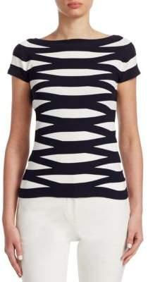 Emporio Armani Striped Knit Top