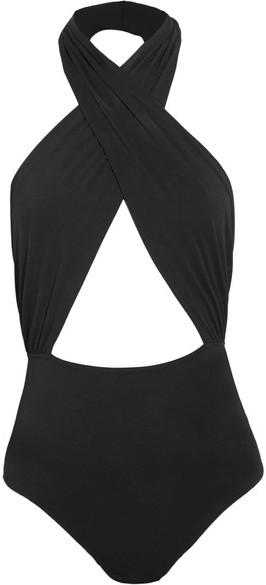 CosabellaCosabella - Bisou Move Cutout Stretch-jersey Halterneck Bodysuit - Black