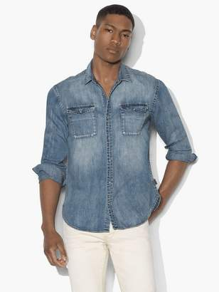 John Varvatos Western Shirt With Snap Chest Pocket