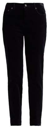 Dolce & Gabbana Slim Leg Corduroy Trousers - Womens - Navy