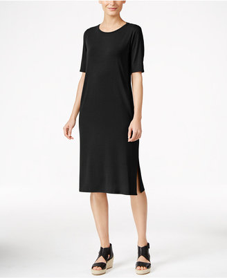 Eileen Fisher Midi T-Shirt Dress $198 thestylecure.com