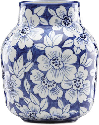 Lenox Painted Indigo Floral Tapered Vase